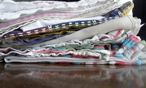 A pile of my cloth napkins
