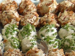 Pesto Goat Cheese Truffles