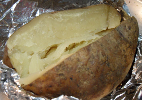 A slow cooker-baked potato