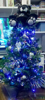 Carolina Panthers Christmas Tree